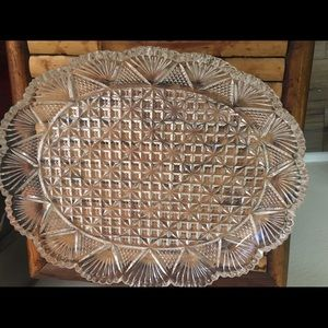 Vintage Ornate Glass Tray